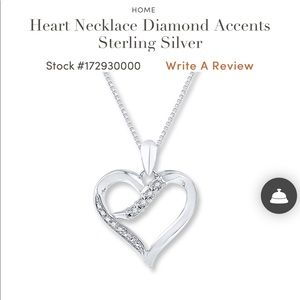 fba62518a7b jared · Jared Sterling silver heart necklace
